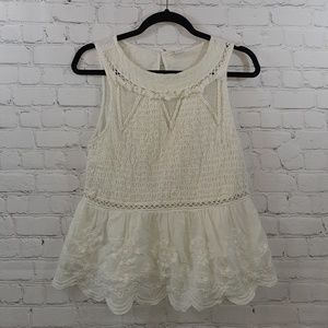 Meadow Rue Ladies Sleeveless Lace Top